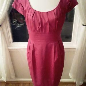 Red Scoop Neck Dress